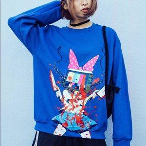 OMOCAT bloody anime TVGirl sweatshirt